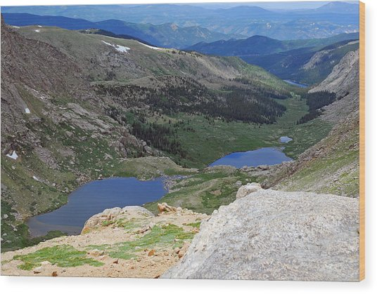 View From Atop Mt. Evans Wood Print