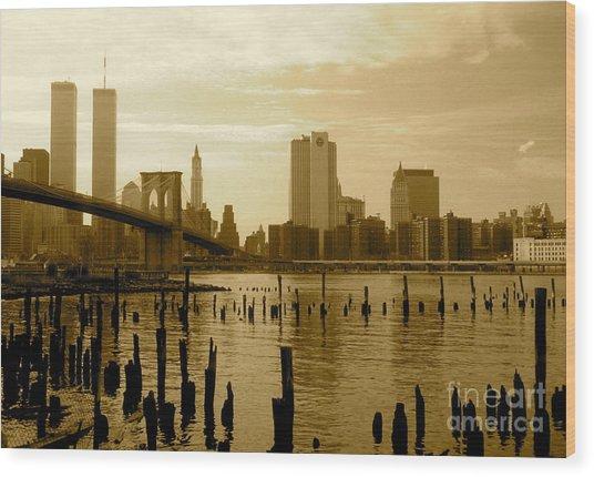 View From Brooklyn Bridge Park Wood Print