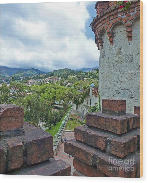 View From The City Walls - Loja - Ecuador Wood Print