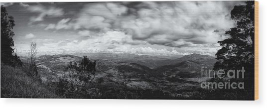 View From The James Taylor Seat  Panorama  Wood Print