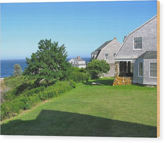 View From The Veranda Wood Print
