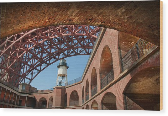View From Under The Arch Wood Print by Kent Sorensen