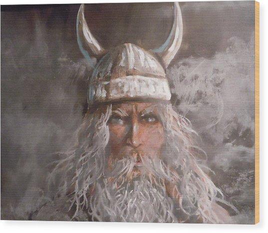 Viking God Wood Print