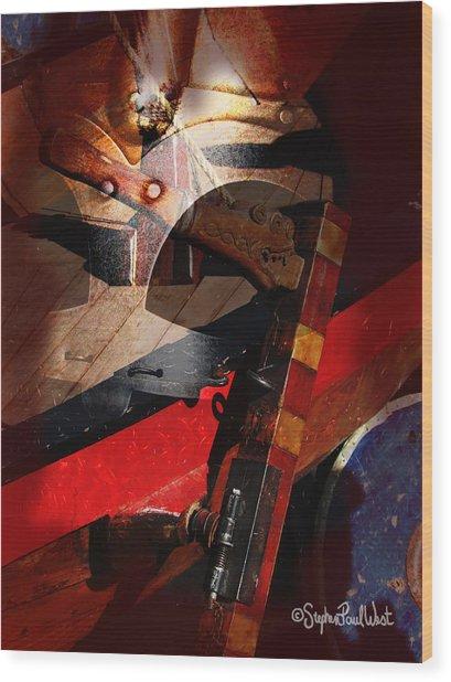 Viking War Portal Of Time Wood Print by Stephen Paul West