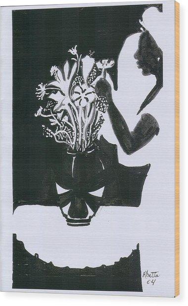 Village Dancers Wood Print by Rhetta Hughes