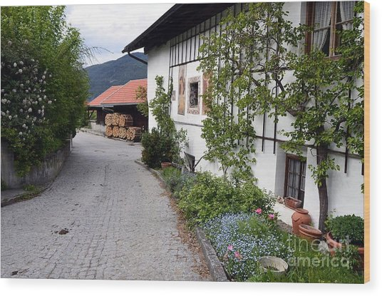 Village In Tyrol Wood Print