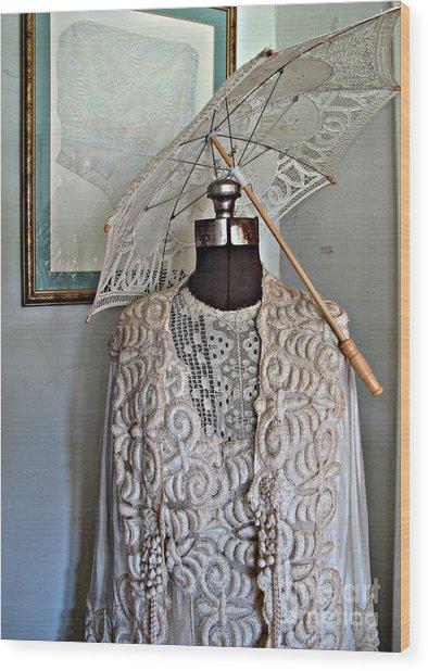 Vintage Fashion Wood Print by Louise Peardon