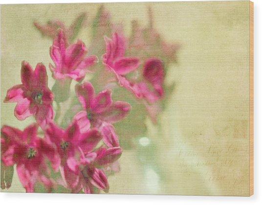 Vintage Hyacinth Wood Print