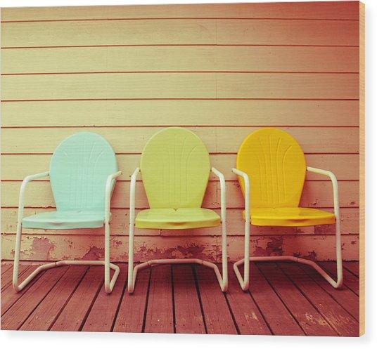 Vintage Summer Wood Print by Sonja Quintero
