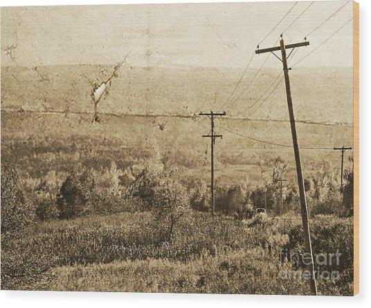 Vintage View Of Ontario Fields Wood Print