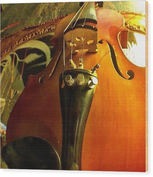 #violin #viola #music #art Wood Print