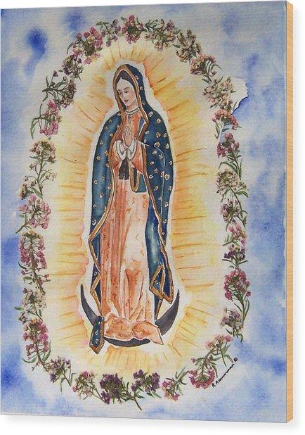 Virgin Of Guadalupe Wood Print by Regina Ammerman