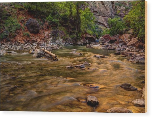 Virgin River Zion Wood Print