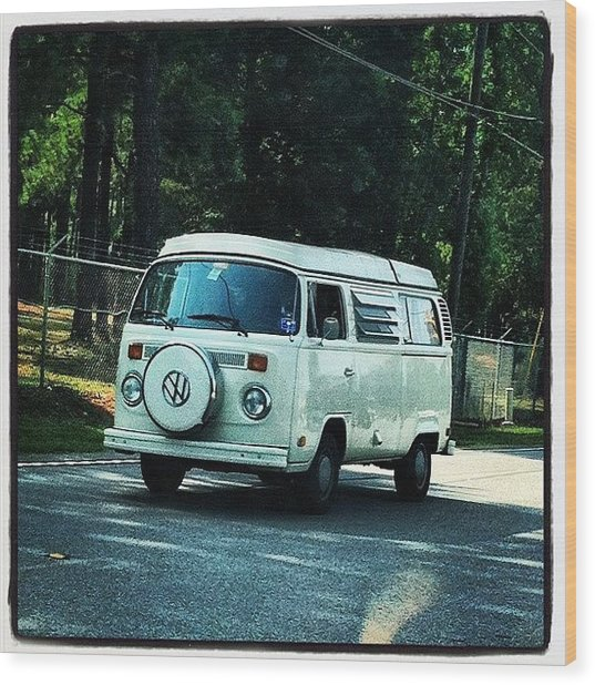 Volkswagon Bus Wood Print