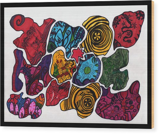 Voltiao Wood Print by MikAn 'sArt