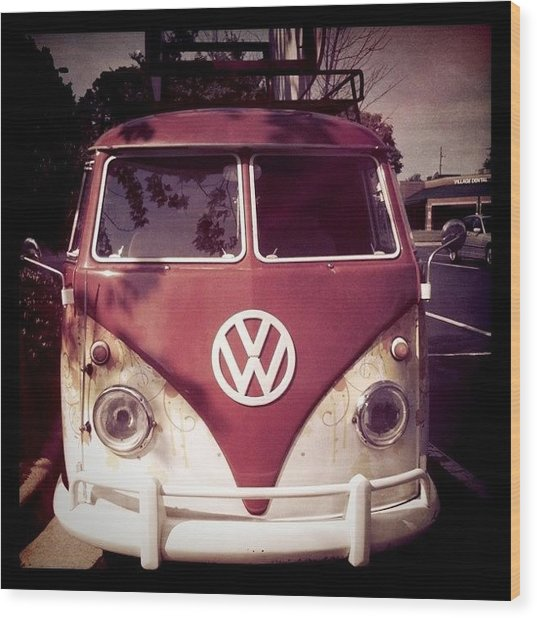 Vw Bus Wood Print