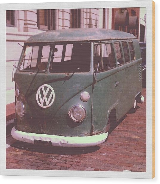 Vw In Downtown Fort Myers. #vw Wood Print