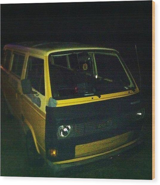 #vw #vanagon #bus #van #wagon #old Wood Print