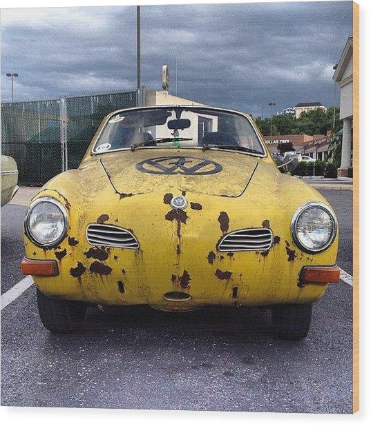 #vw #volkswagen Karmann Ghia #cars Wood Print