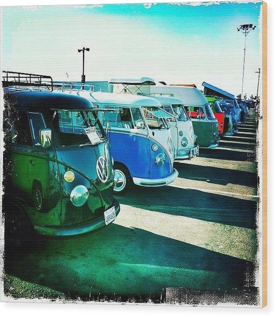 #vw #volkswagon #bus #buses Wood Print