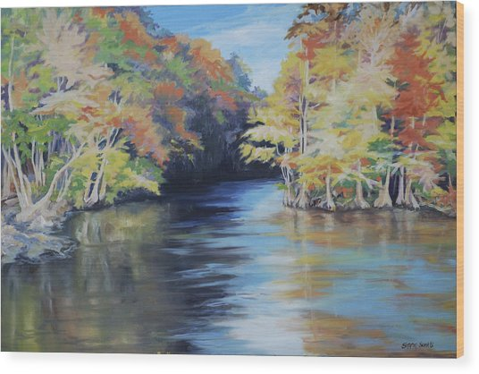 Waccamaw Autumn Wood Print