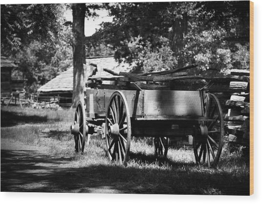 Wagon Wood Print