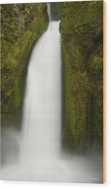 Wahclella Falls Wood Print