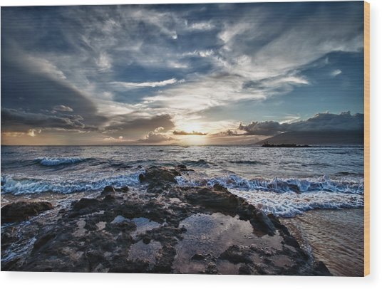 Wailea Sunset Wood Print