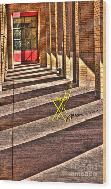 Waiting In Between Wood Print by Anca Jugarean