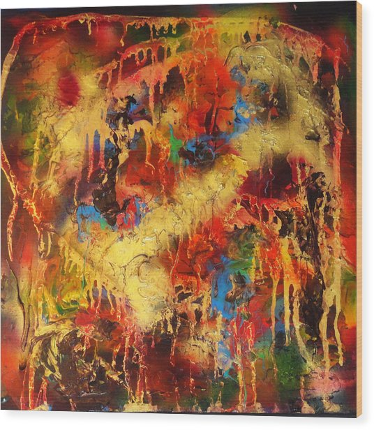 Walk Through The Fire Wood Print