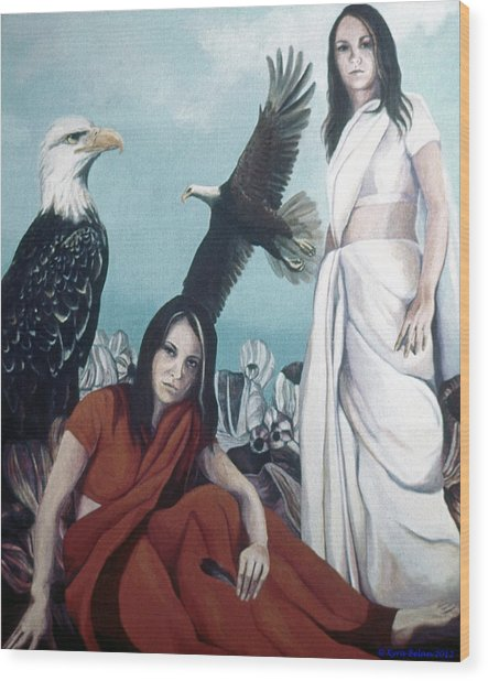 Walks With Eagles Wood Print