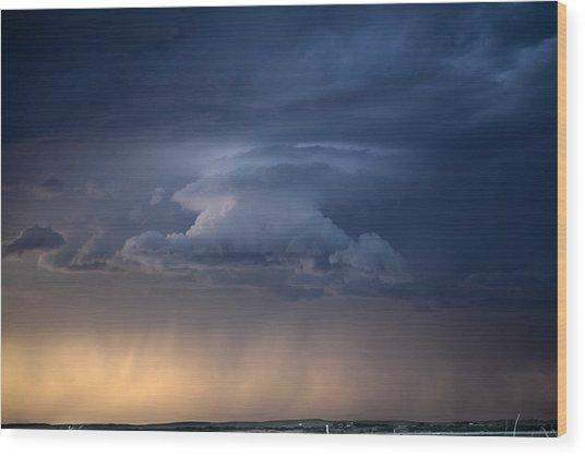 Wall Cloud Convecting Wood Print by Loren Rye