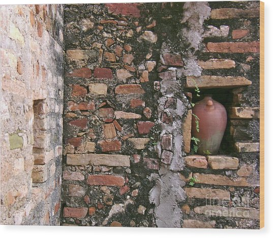 Wall With Vessel Wood Print by Laurel Fredericks