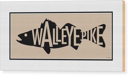 Walleye Pike Wood Print