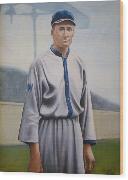 Walter Johnson Wood Print by Mark Haley
