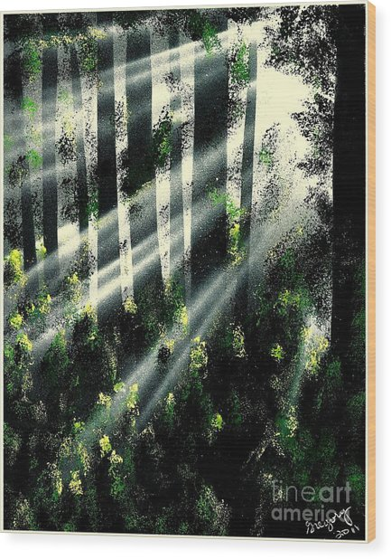 Waning Light Wood Print