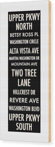 Washington Highlands Wood Print