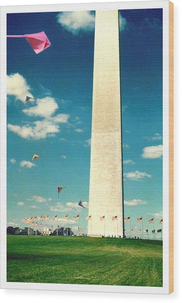 Washington Monument 1982 Wood Print by Noah Brooks
