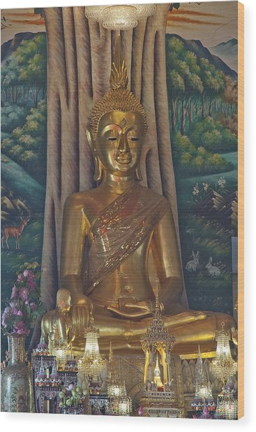 Wat Kaewjamfa Ubosot Principal Buddha Dthb1072 Wood Print