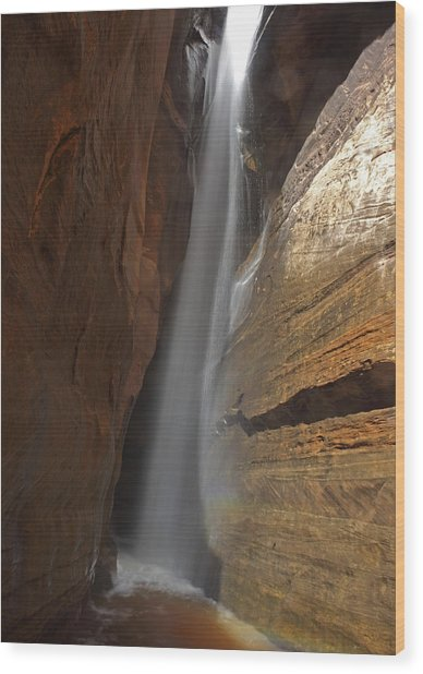 Water Canyon Wood Print