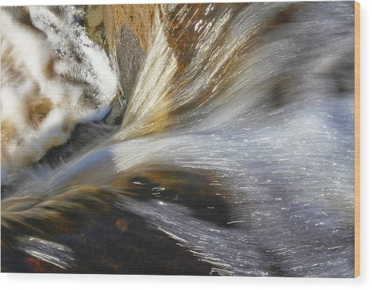 Water In Motion Wood Print by Wayne Stabnaw