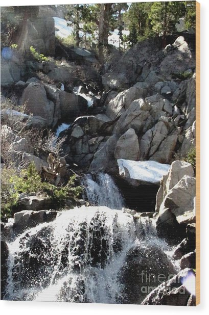 Waterfall 5 Wood Print