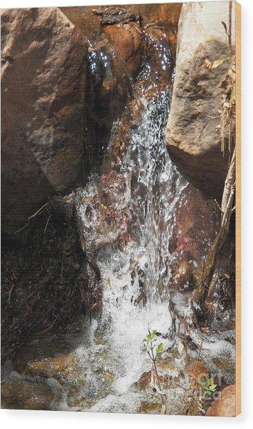 Waterfall Wood Print by Ashiley Slaymaker