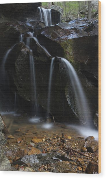 Waterfall On Emory Gap Branch Wood Print