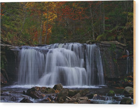 Waterfall Svitan Wood Print