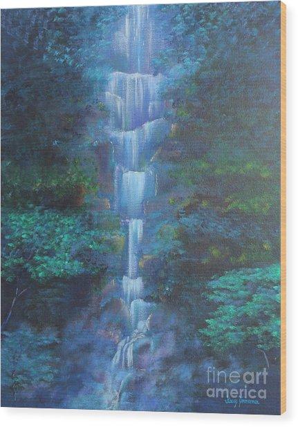 Waterfall Symphony Wood Print