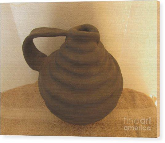Watering Vase Wood Print by Christina Perry
