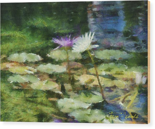 Waterlilies 2 Wood Print