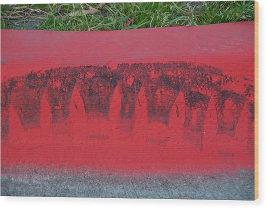 Watermelon Curb Wood Print