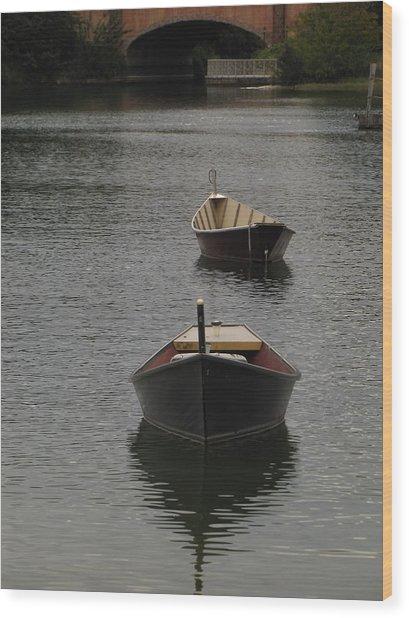 Waterway Boats Wood Print